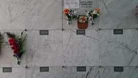 Vendo Dos Nichos de Cuerpo Entero y Restos cada uno en el Cementerio del Batán