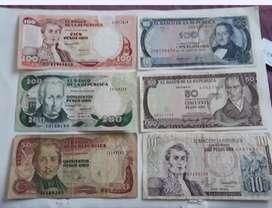 Coleccion  billetes De  Xolombia