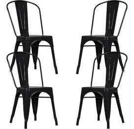 4 sillas tolix para restaurante, hogar, jardin