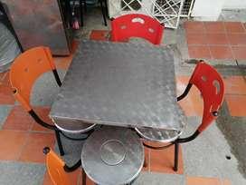 Sillas para restaurante 6 mesas y 24 sillas
