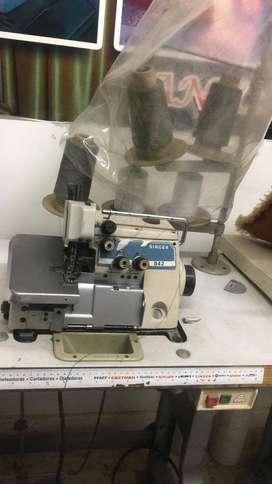 maquina de coser plana triple trasporte singer 211