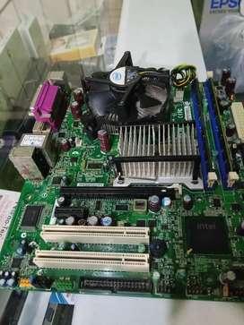 Combo Board Intel + procesador Intel Core2Quad + 4GB RAM