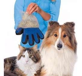 Guante De Silicona Masajeador Para Mascotas Perros Gatos