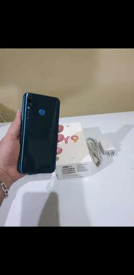 Huawei Y9 como nuevo doble chit con su caja cargador original estuche y mica completa todo original