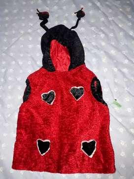 Disfraz Lady Bug talle 4 ( 4 a 6 años) chifon  y pechuche con alas y antenitas $ 1200