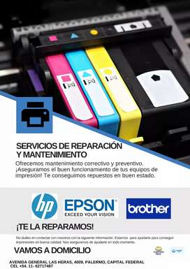 REPARACIÓN DE IMPRESORAS EPSON HP