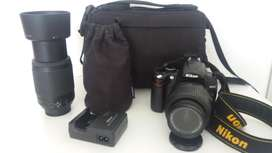 NIKON D5000 lente 18-55VR y 55-200VR, Bolso de transporte