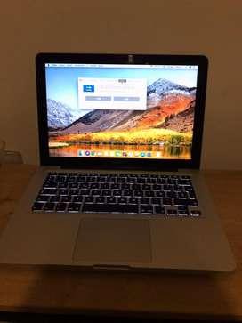 Macbook pro 13 pulgadas año 2012 core i5 ram 4gb disco duro 1tera