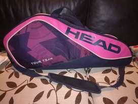Raquetero Head importado excelente estado.para tres raquetas