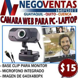 CAMARA WEB PARA PC - LAPTOP EN DESCUENTO EXCLUSIVO DE NEGOVENTAS