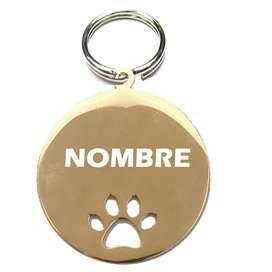Placa Circular de lujo para Gatos y perritos
