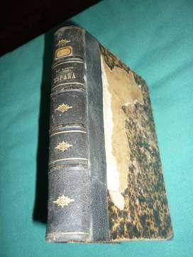 antiguo libro EDMUNDO DE AMICIS TRADUCCION GINER DE LOS RIOS 1884