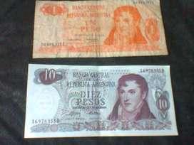 ANTIGUOS BILLETES ARGENTINOS