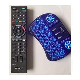 Control Remoto Tv Sony Smart + Mini Teclado Mando Bluetooth Para Celular Y Tv