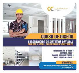 CURSO DE DISEÑO e INSTALACION de SISTEMAS DRYWALL DURLOCK y Yeso + CALCULADOR DE MATERIALES