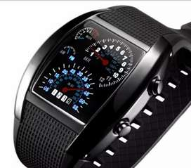 Reloj tipo Tacómetro racing digital hombre ilusión Of Time