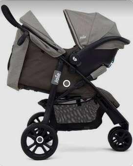 COCHE SYSTEM JOIE INFANTI + SILLA M.T