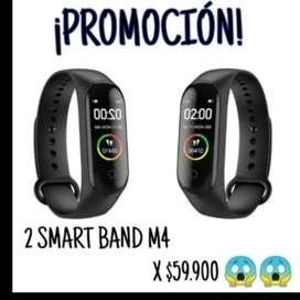 Super Promoción 2 Smart Band M4 X 59.900
