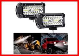 2 Exploradoras Barras de luz LED XTAUTO 7 pulgadas 54W 40 LED Impermeable  Conducción Luz antiniebla