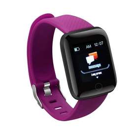 Reloj Inteligente mujer dama purpura Smart Band Riatmo Cardiaco notificaciones de whatsapp twitter redes