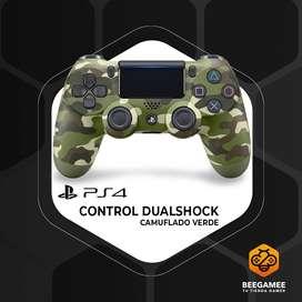 Control Original PS4 Camuflaje Verde