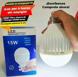 Bombillo led 15w luz de emergencia