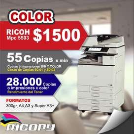 Copiadora Impresora Ricoh Mpc 5503 Full Color