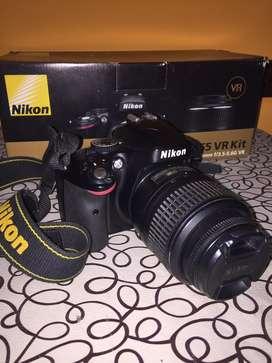 Camara Nikon D5100 con lente N ikon Vr 18-55 Dx Kit