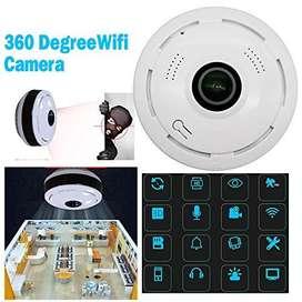 Cámara Seguridad Panorámica 360 Grados Wifi 1080p Ojo De Pez