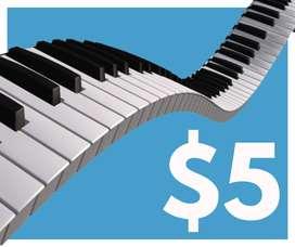 $5 la hora, precio real clases de piano Samborondón