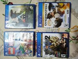 Juegos de play station 4: Marvel super heroes. Overwatch.ARK survival evolved. Dragon Ball Xenoverse 2. Fifa 15