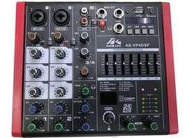 MIXER AUDIOKING VP4 DSP/ USB/BT