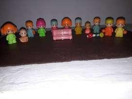 Muñecos Pin y Pon originales, años 80´.