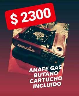 ANAFE GAS BUTANO CON CARTUCHO INCLUIDO