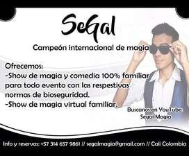Segal Magia, Mago Segal, Show de magia, Mago en Cali, Magos de Cali, Mago para eventos, Mago eventos, Cali Valle, Cali