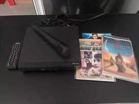 Vendo DVD marca kalley con micrófono y 3 peliculas