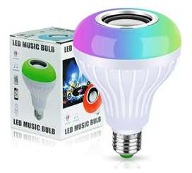 Bombillo parlante luz LED bluetooth