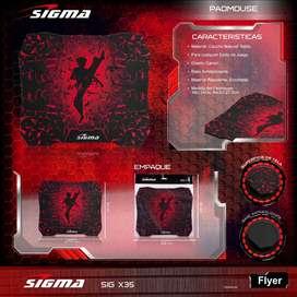 Mouse Pad Gamer Sigma X33 Antideslizante 24 X 27cm