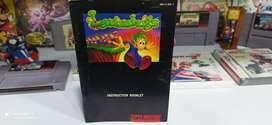 Lemmings Manual ORIGINAL para Super Nintendo