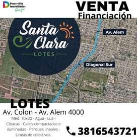 Venta lotes Santa Clara (Chañarito)