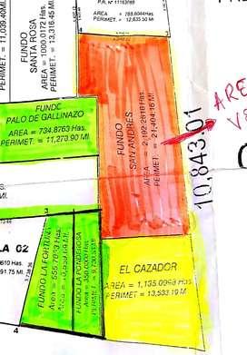 Se venden 2,192 Hás agrícolas al costado del Proyecto Olmos. Lambayeque.