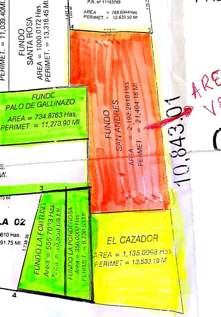 Se venden 2,192 Hás agrícolas al costado del Proyecto Olmos. Lambayeque. 0