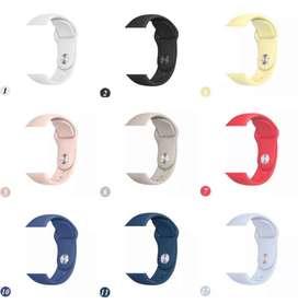 Manillas  pulsos silicona de colores para apple watch todas las tallas