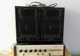 Equipo de sonido voice antiguo con bafles