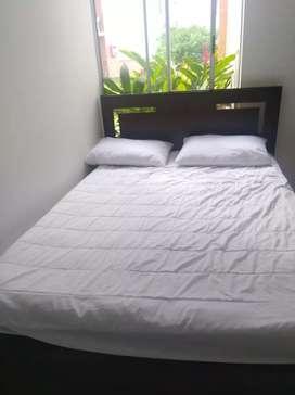Vendo, hermosa cama, mas colchón, mas
