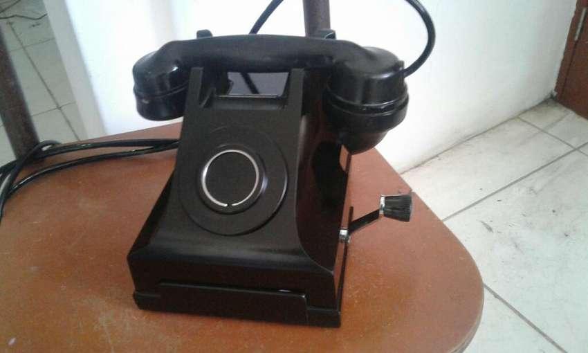 Antiguo Telefono de Manivela Arte Decora