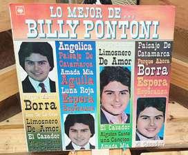 Vinilo Long Play Lps Acetato Pasta Vinyl BILLY PONTONI Lo Mejor De