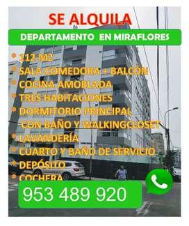 Alquiló departamento Miraflores