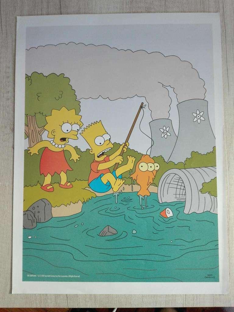 Lámina póster The Simpsons Bart y Lisa 0