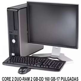 Promoción dell core 2 Dúo con monitor 17 teclado mauso garantía 6 meses $449.900